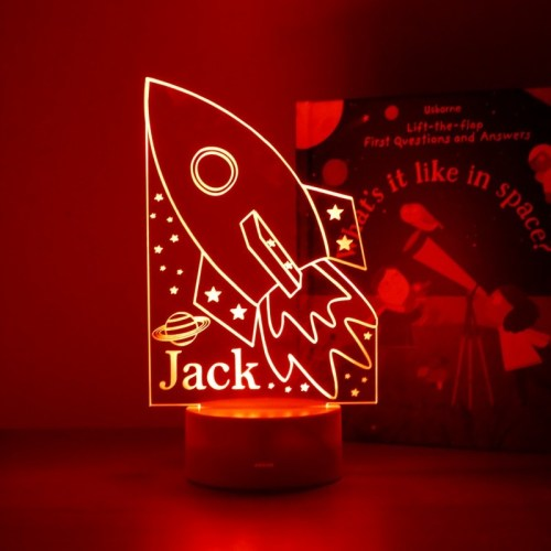 Space rocket night light