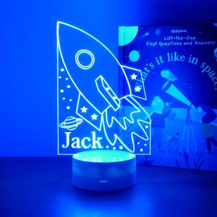 personalised boys night light