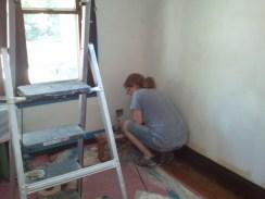 Taping between mudding/sanding and primer