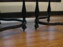 The table legs