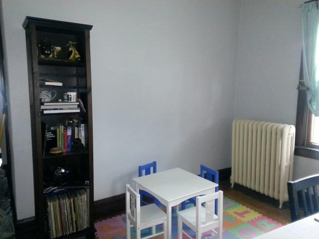 Freshly painted walls