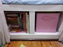 Close-up of bookcase