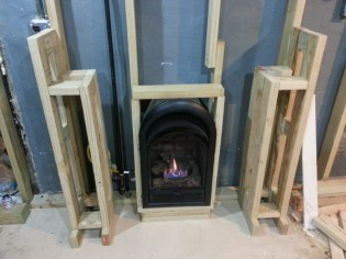 the two post built. Ah look at the beaitful fireplace.