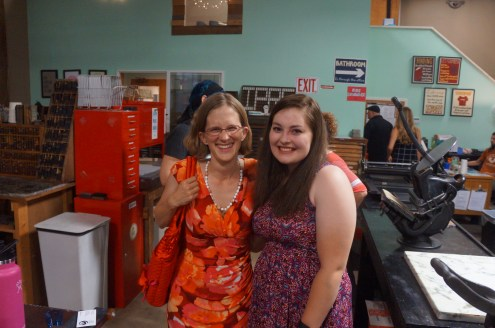 Laura Standfill with my friend and former student Aubrey Jarvis (photo courtesy LS)