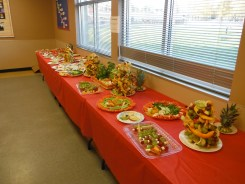 All laid out and ready to eat. Good work kids! Thanks SCFS members!
