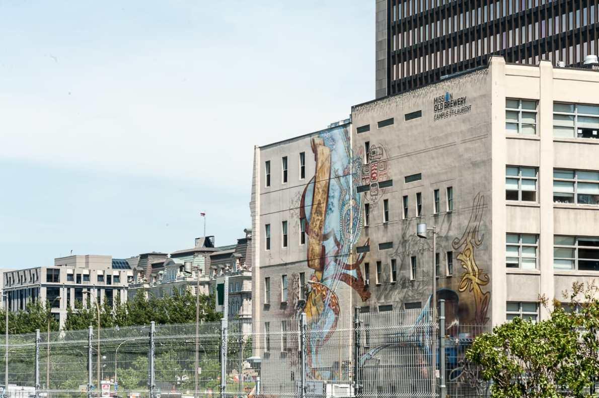 Mural near Old Montréal