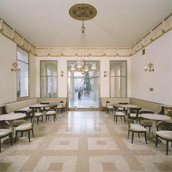 weißer Salon - Pressematerial Caffè Pedrocchi
