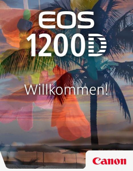 EOS 1200D von Canon - Willkommensbildschirm der Begleitapp