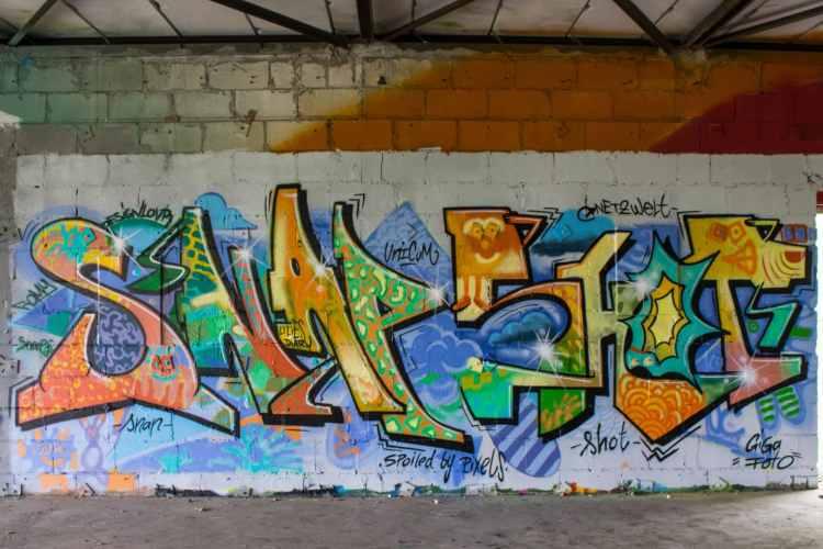 Snapshots - unser Graffito vom Workshop