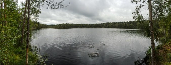Seepanorama, Hiking-Trail Sammalistonpolku in Finnland