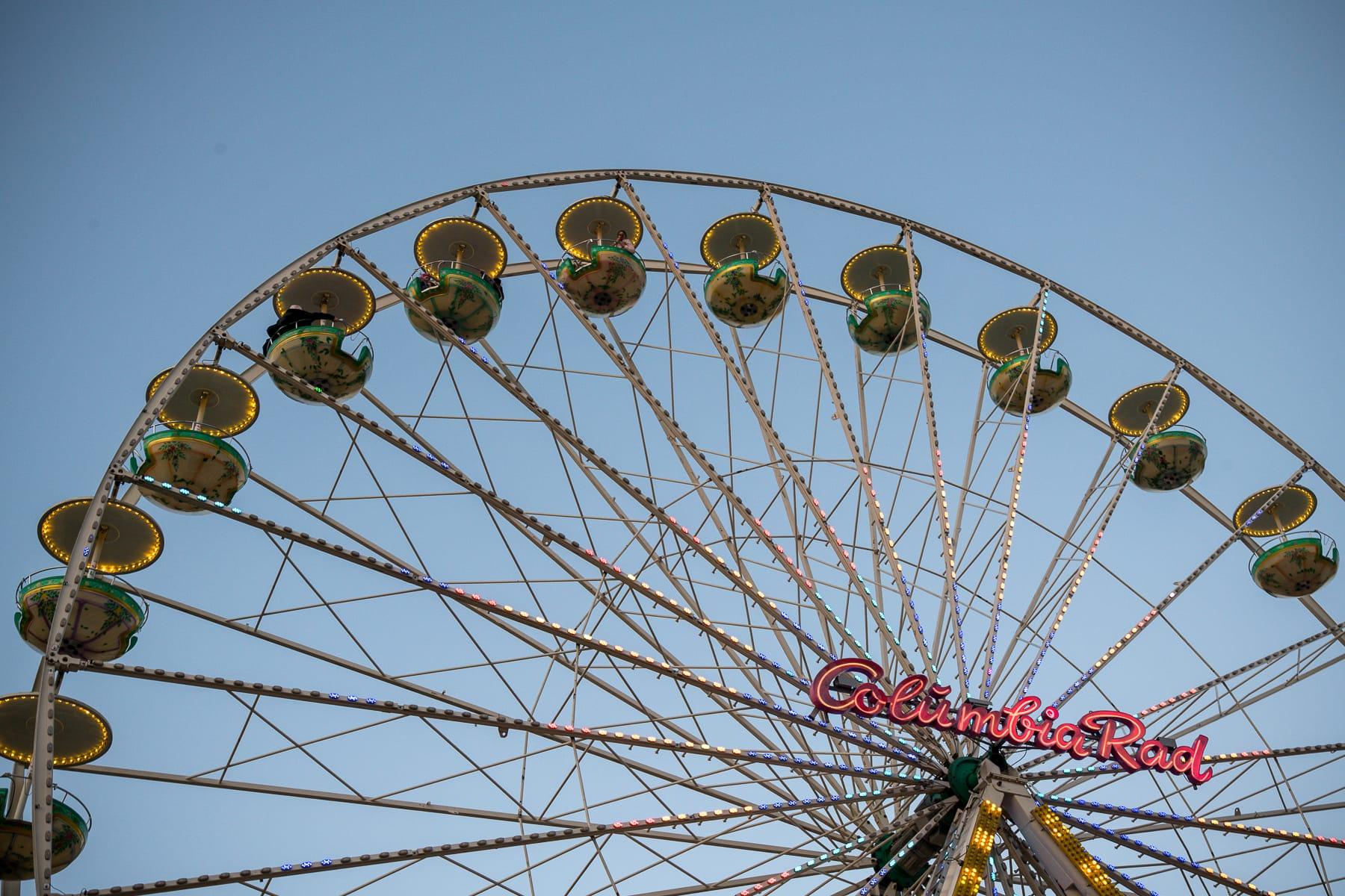 Nahaufnahme des Riesenrads auf dem Dortmunder Weihnachtsmarkt