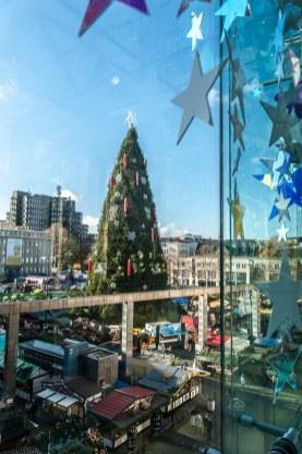 Dortmunder Weihnachtsbaum - vom Karstadt aus gesehen