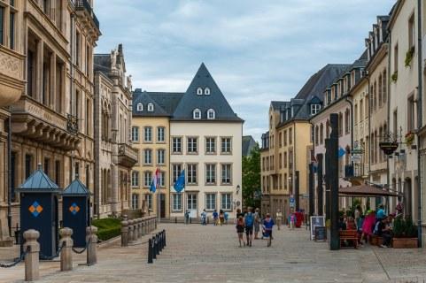 Am großherzoglichen Palais in Luxembourg