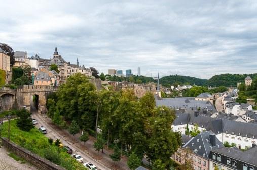 Blick nach Grund, Abteil Neumünster, Luxembourg