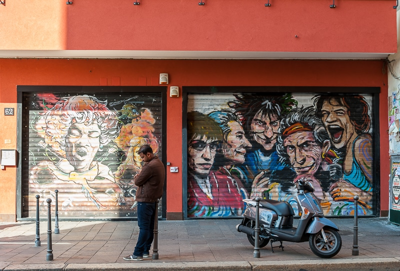 Streetart Mailand The Rolling Stones