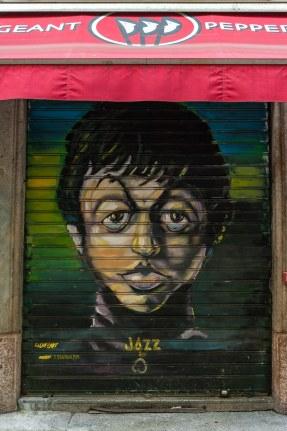 Streetart Paul McCartney Die Beatles Collection am Sergeant Pepper's