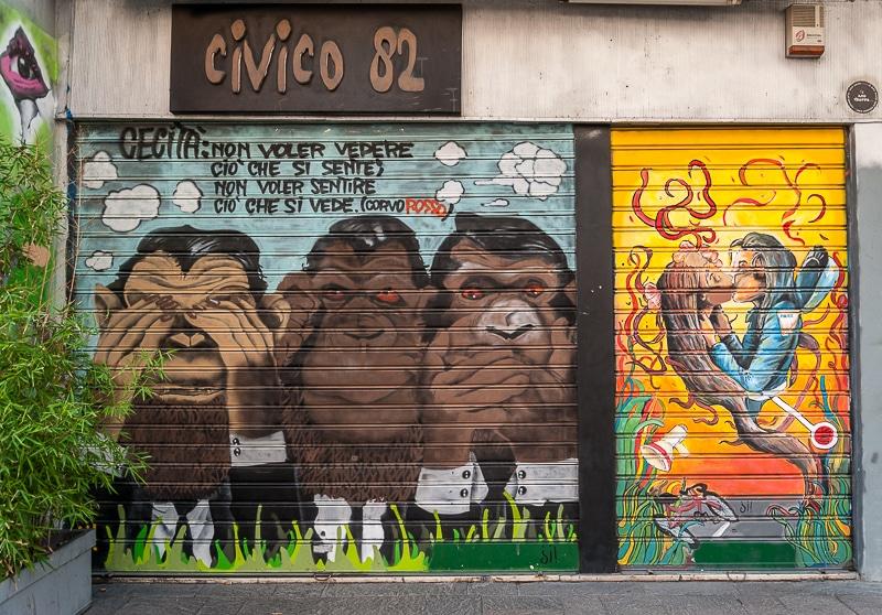 Mailand Streetart 3 Monkeys