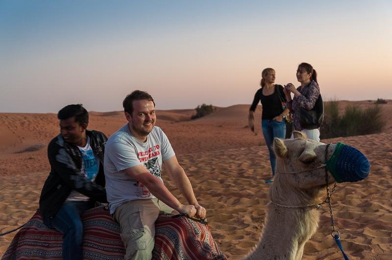 """Simon auf """"seinem"""" Kamel"""