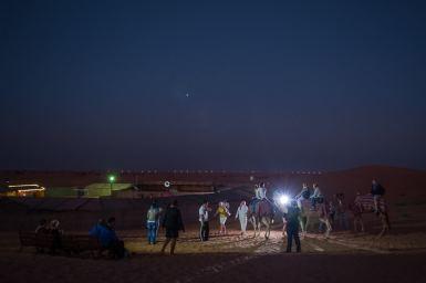 Am Beduinencamp - Kamelreiten