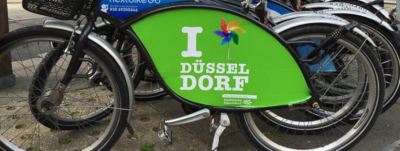 Düsseldorf Fahrrad Coverfoto