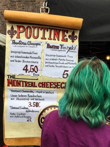 Poutine Stand auf dem Street Food Festival