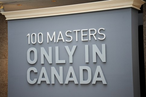 100 Masters Only in Canada Ausstellung