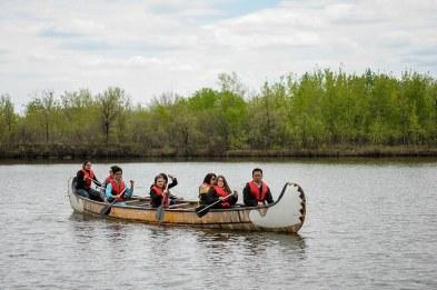 Kanu fahren im FortWhyte Alive