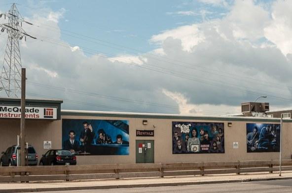 Musikalische Graffitis/Murals in Winnipeg