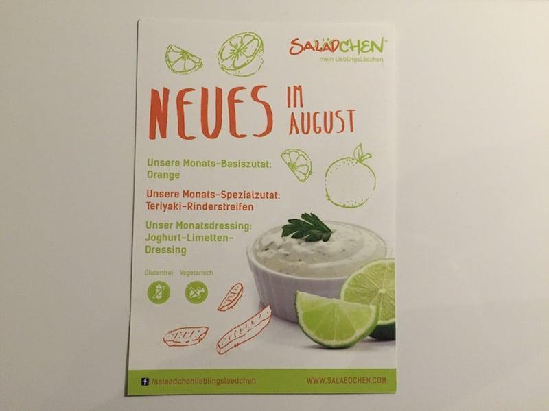 Neues im August - die Monatszutaten und -dressing