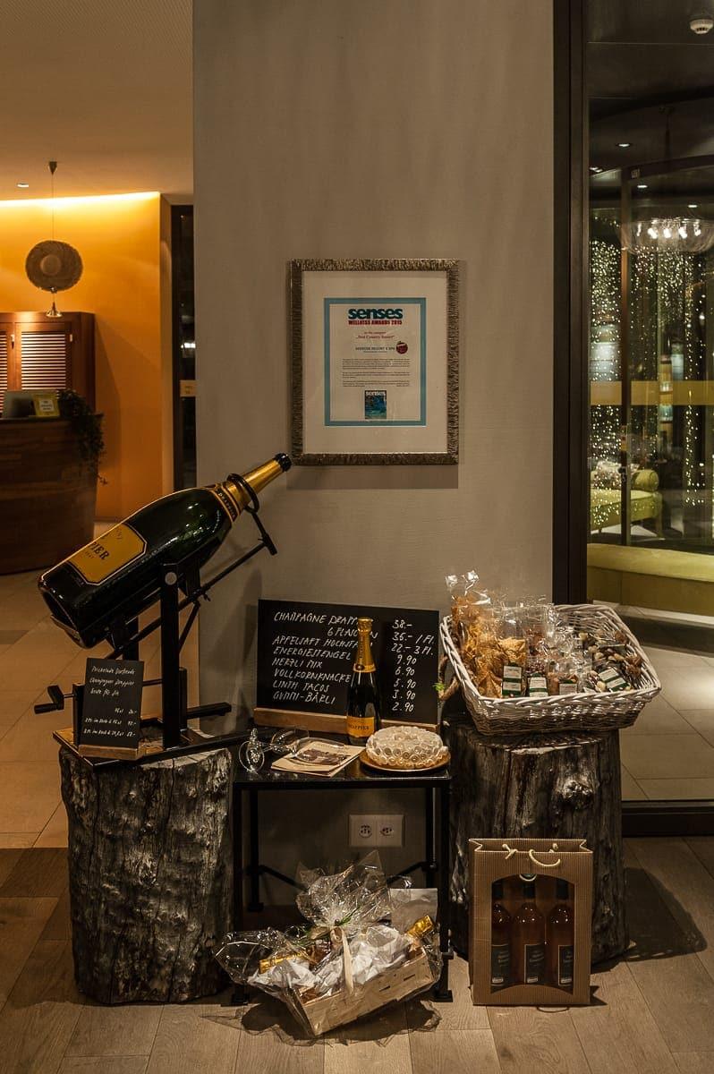 Alles, was man für ein Champagnerdinner braucht ...