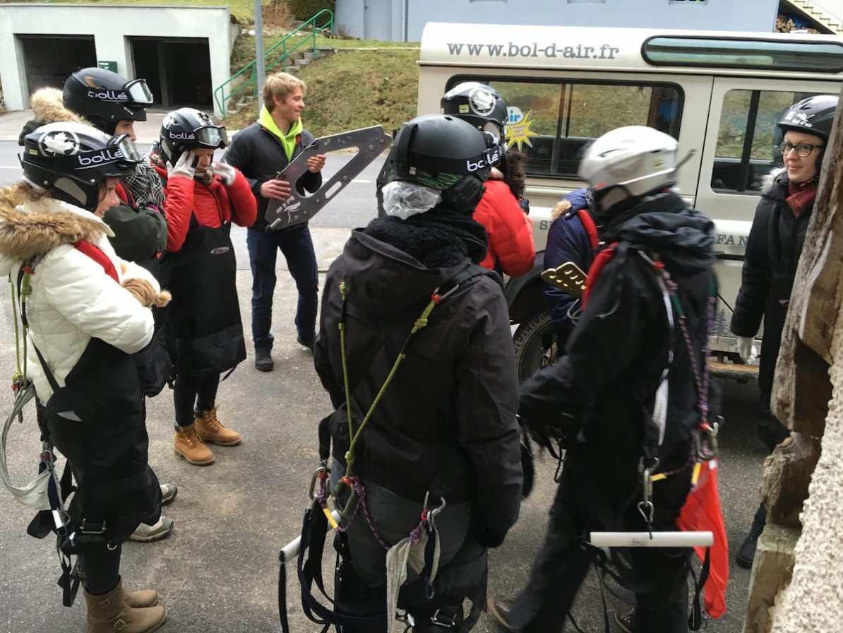 Vorbereitung bevor es in die Berge der Vogesen zum Ausgangspunkt geht