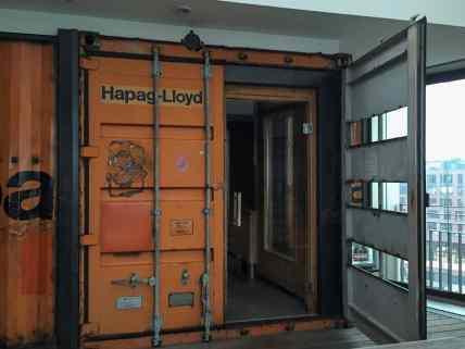 Finnische Sauna im Container