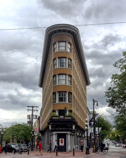 Flat Iron Building in Gastown