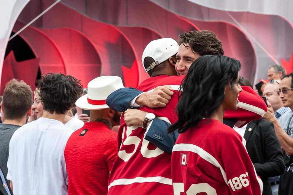 Verabschiedung von hier Kardinal Offishal durch Premierminister Justin Trudeau
