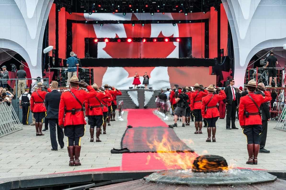 """Bei der Nationalhymne """"O Canada"""""""