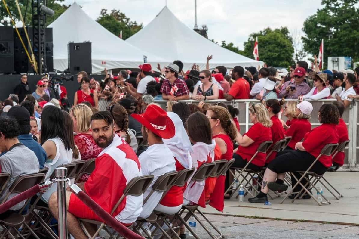 Syrische Refugee-Familie beim Canada Day in Ottawa