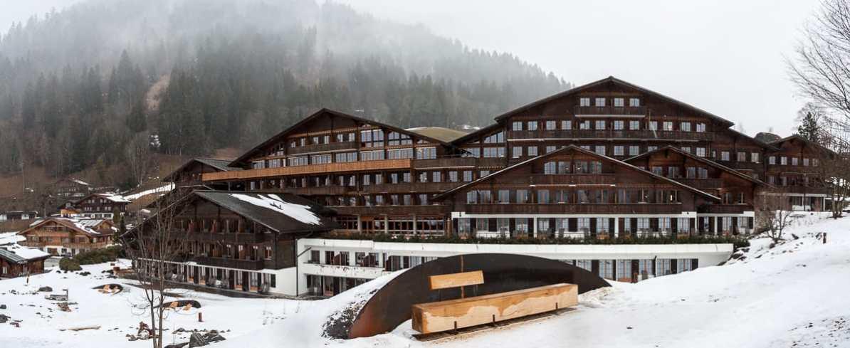 Panoramaansicht des Hotels, Südseite
