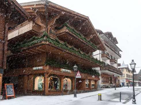 In der Innenstadt von Gstaad