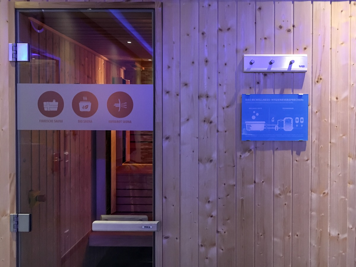McWellness Dortmund: private Sauna on demand