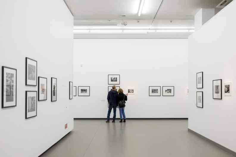 Innerhalb der Lindbergh/Winogrand-Ausstellung im NRW-Forum