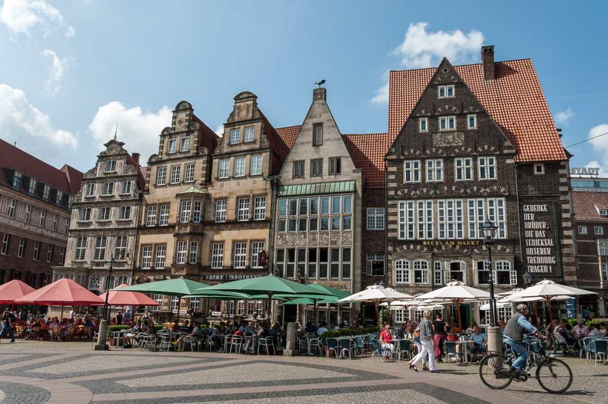 Am Marktplatz in Bremen.