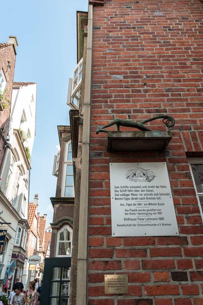Im Schnoorviertel in Bremen.
