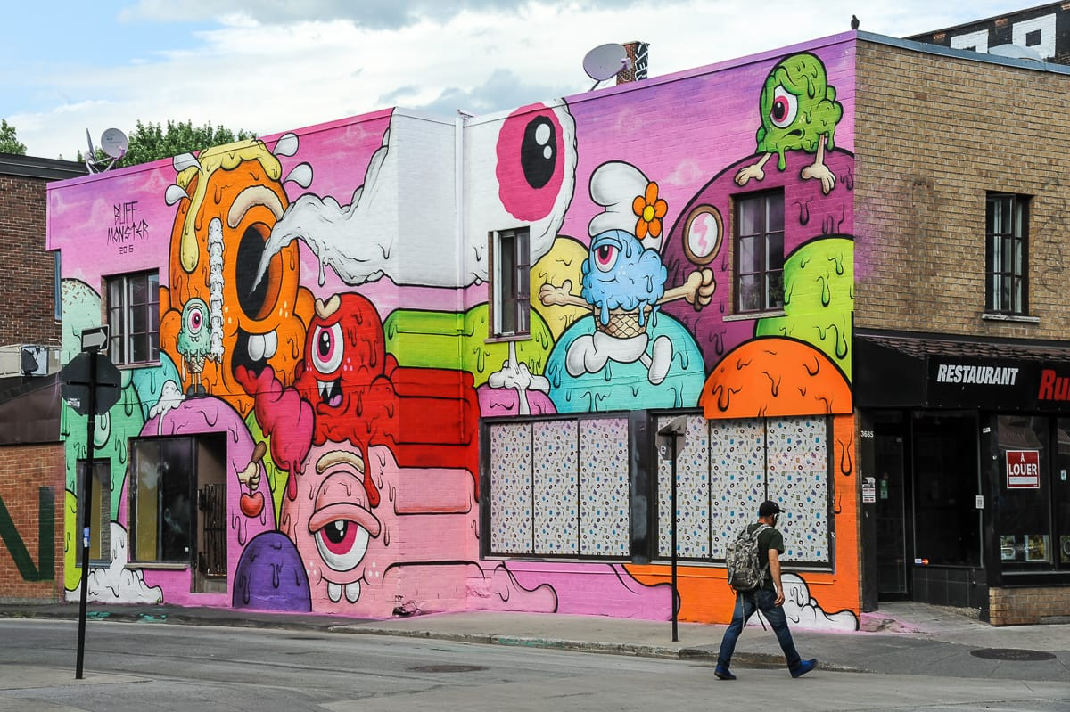 Street Art in Montréal - das Mural Festival - snoopsmaus