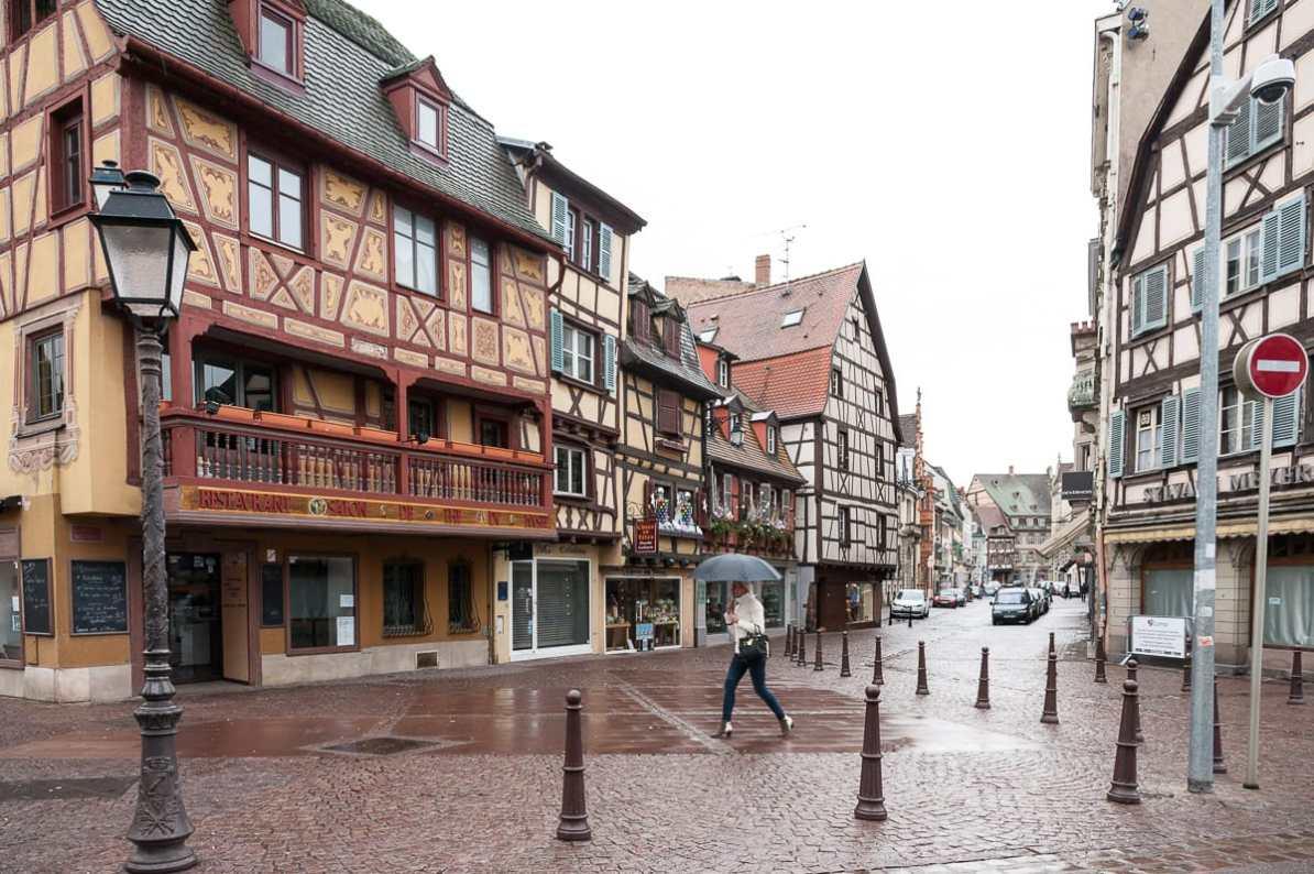 Bei Regen in Colmar