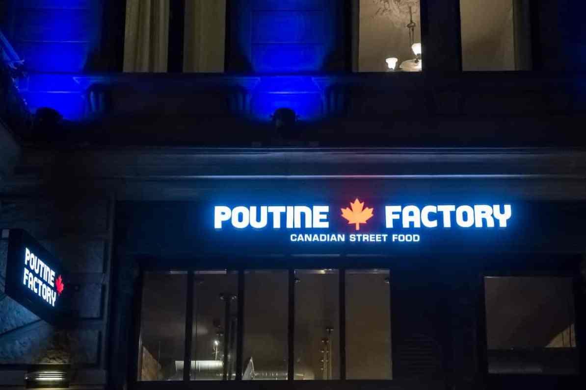 Poutine Factory in der Taunusstraße von außen