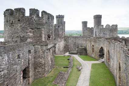 Innerhalb Conwy Castle