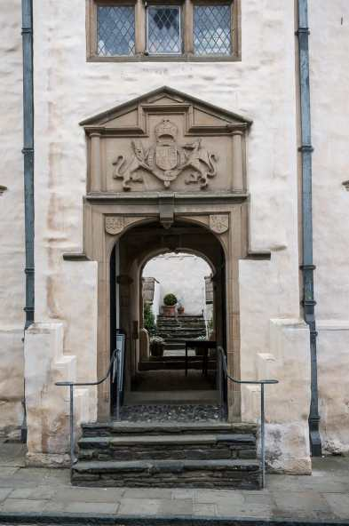 Eingang von Plas Mawr