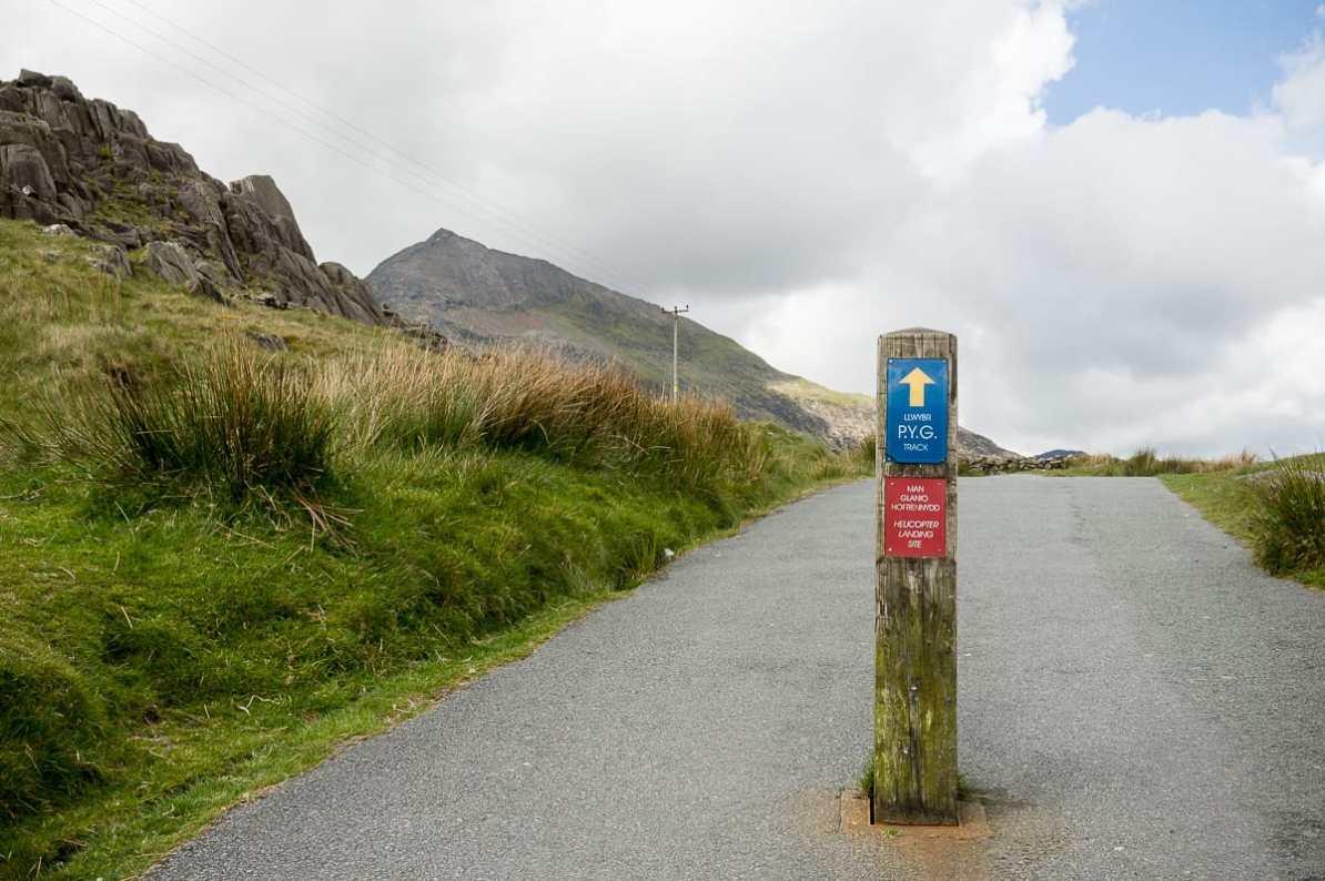 Wanderweg im Snowdonia National Park - Pyg Track am Pen-y-Pass