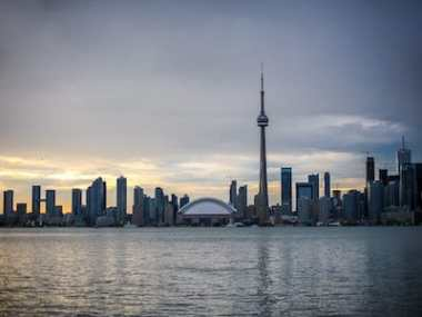 Skyline Toronto Abenddämmerung