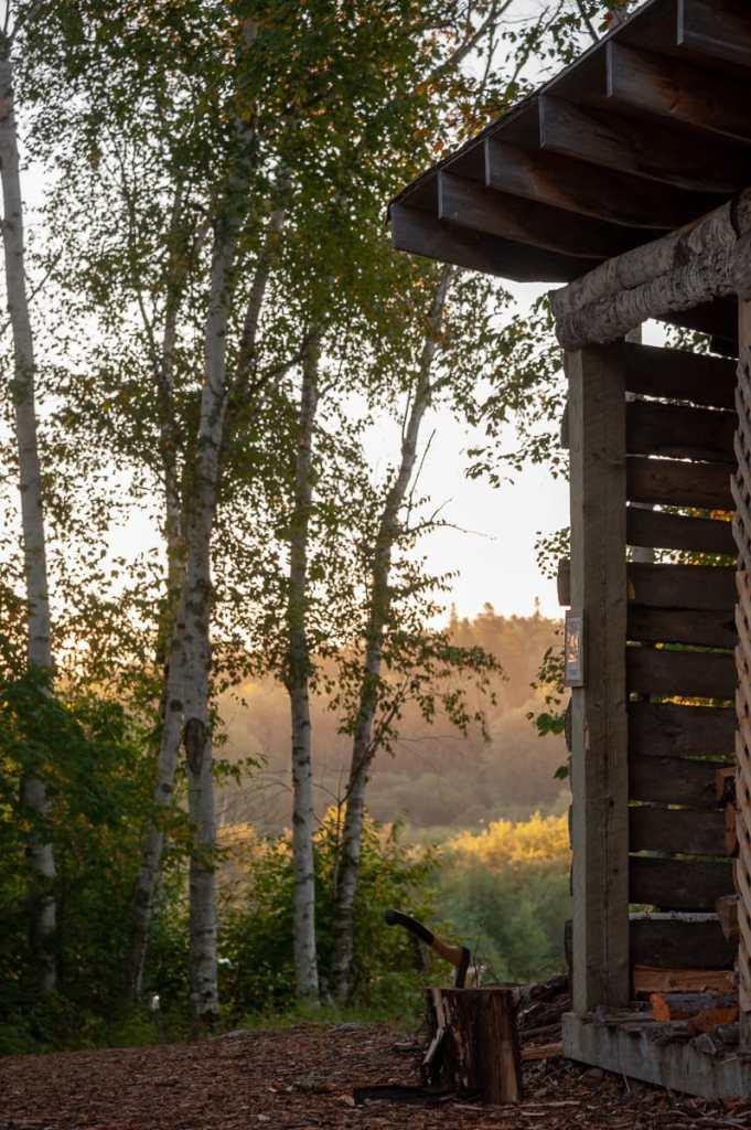 Holzfällerhütte bei den Cabins